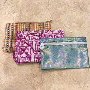 Cosmetic Travel Bags by Ipsy, set of 3, all new